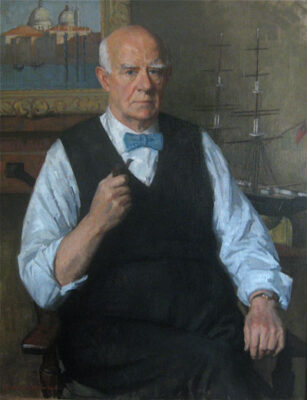 """""""Norman Wilkinson"""" artist painted by his son Rodney Wilkinson."""