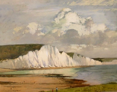 The Seven Sisters, The edge of the South Downs in East Sussex, between the towns of Seaford and Eastbourne. by Norman Wilkinson