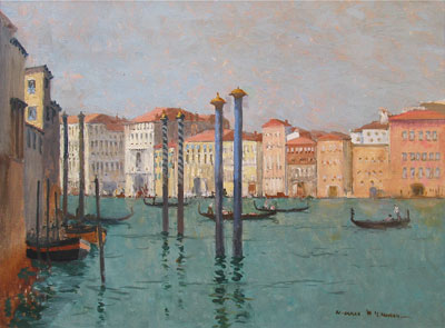 Grand Canal, Venice, Italy by artist Norman Wilkinson