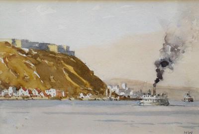 Quebec, looking east c.1956 by Norman Wilkinson marine artist