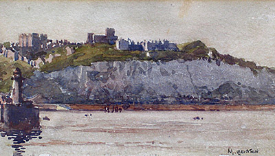 Dover from the English Channel by Norman Wilkinson