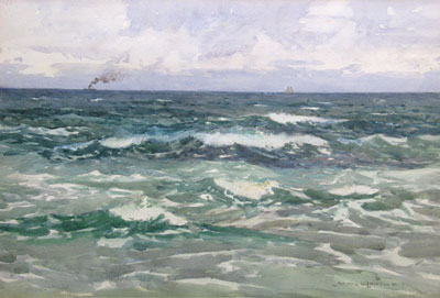 Passing ships by Norman Wilkinson marine Artist