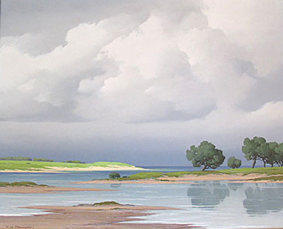 """""""Pins Sur La Cote 1954"""" Pierre de Clausade French artist"""