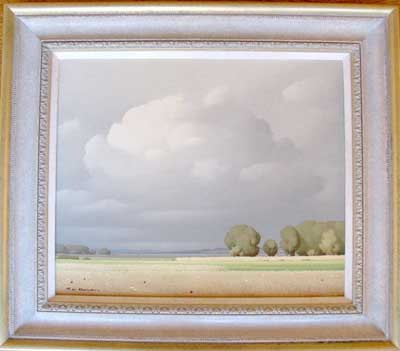 """""""Dans La Beauce"""" Pierre de Clausade French artist"""