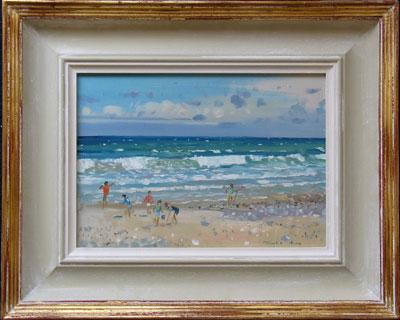 """Robert King Marine Artist - """" Children on the Shore"""""""