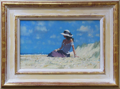 "Robert King Marine Artist - ""Chrissie in the dunes."""