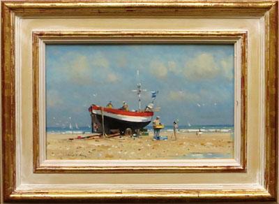 "Robert King Marine Artist - ""Crab Boat Cromer, Norfolk"""