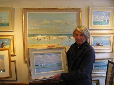 Robert King Marine Artist at the gallery Robert Perera Fine Art Ltd.