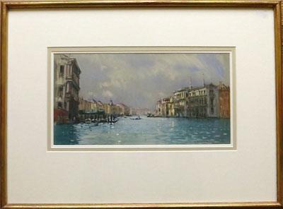 "Robert King Marine Artist - ""Autumn Evening Venice"""