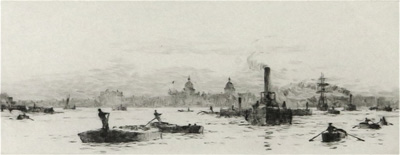 Rowland Langmaid Marine Artist - Greenwich on the Thames