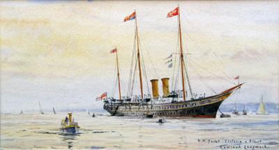 Rowland Langmaid Marine Artist - HM Yacht Victoria and Albert