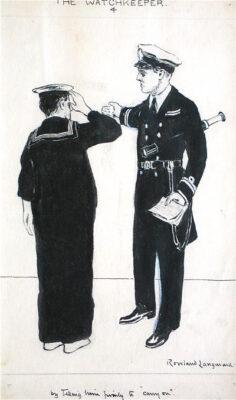 Rowland Langmaid Marine Artist - The Watchkeeper