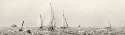 Rowland Langmaid Marine Artist - Yacht Race on the Solent