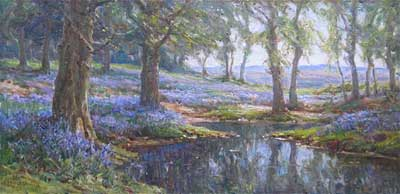 Bluebell Wood - Frederick Golden Short - New Forest Artist Oil Painting - F.G.Short