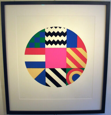 Dazzle Disc by art Sir Peter Blake