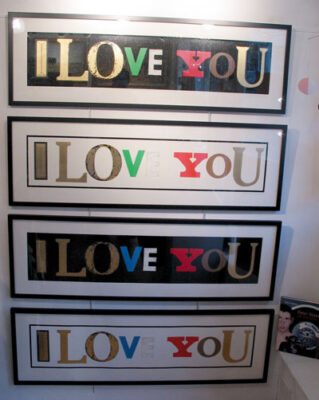 I love You by artist Sir Peter Blake