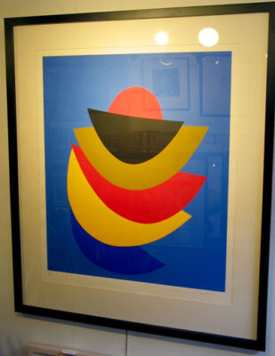 """Sir Terry Frost Artist - """"Black Moon and Ochre"""""""