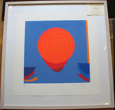 """""""Orange and Blue Space"""" by Sir Terry Frost RA"""