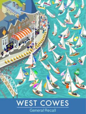 Sue Stitt Artist , West Cowes, General Recall, Isle of Wight print