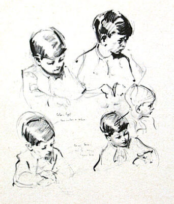 """Terence Cuneo Artist """"The Prince of Wales - Original drawing"""""""