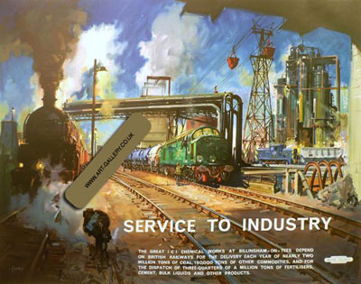 "Terence Cuneo Artist ""Service To Industry"""