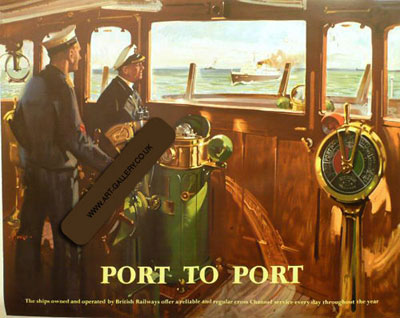 "Terence Cuneo Artist ""Port to Port"""