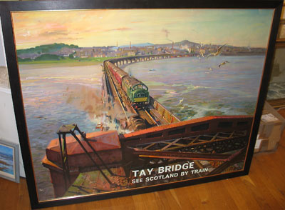 "Terence Cuneo Artist  ""Tay Bridge"""