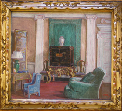 Original signed oil painting Exhibition of Paintings & Drawings by The Lady Patricia Ramsay, held in May 1928 at the Goupil Gallery, London. No:55 Victoria Patricia Ramsay VPR