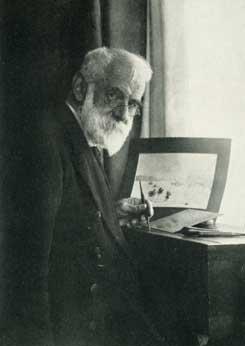 W.L.Wyllie in studio - marine artist