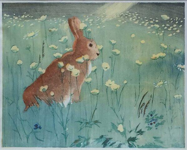 Allen William Seaby woodcut rabbits
