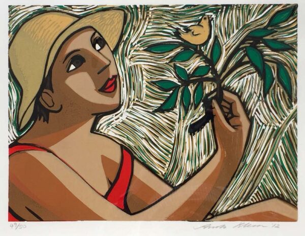 Anita Klein Bird in Summer linocut