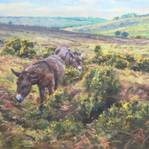Barry Peckham Artist New Forest Donkeys