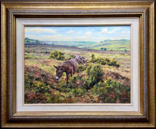 Barry Peckham Artist New Forest Donkeys