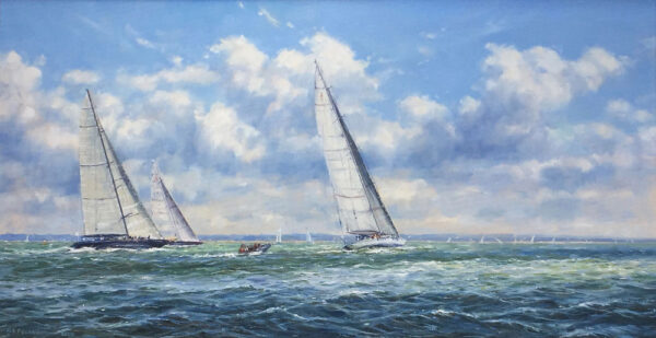 Barry Peckham Artist Painting Solent Yachting