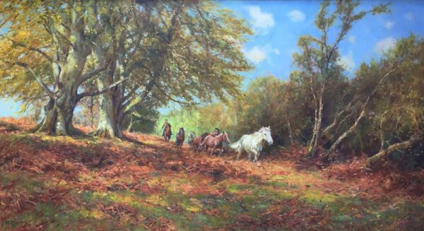 Barry Peckham New Forest Artist Pony Roundup