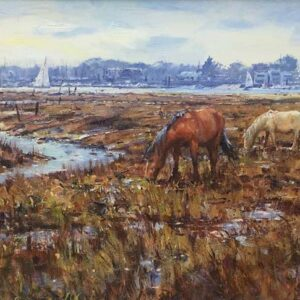 Barry Peckham Artist Lymington River