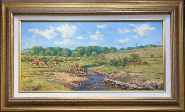 Barry Peckham Painting New Forest Deer