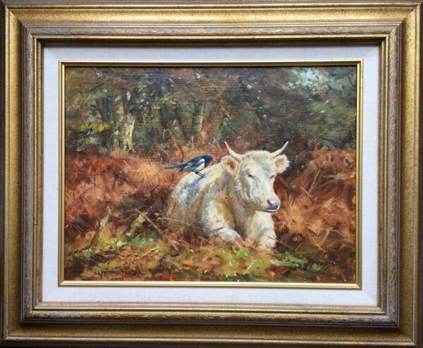 Barry Peckham Artist Painting New Forest Cow