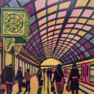 Gail Brodholt Westward Bound Linocut Artist London
