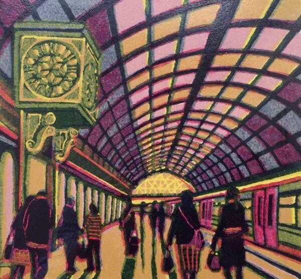 Gail Brodholt Westward Bound Linocut Artist London