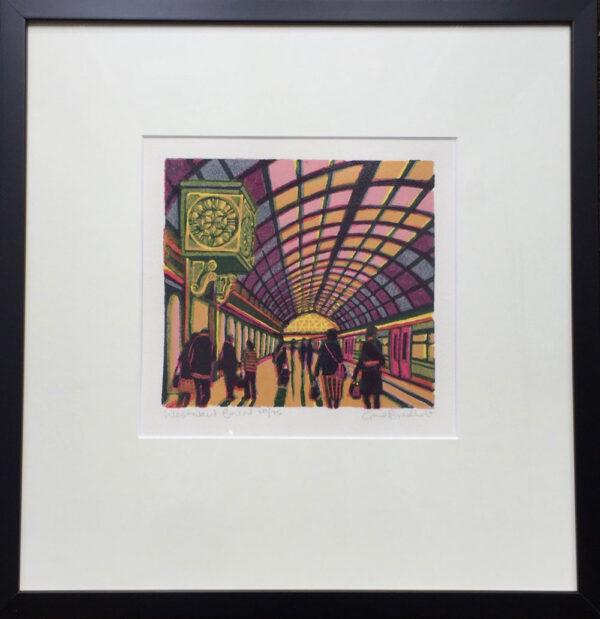 Gail Brodholt Westward Bound Linocut Artist London Frame