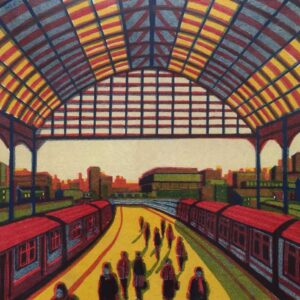 Gail Brodholt Every Moment So Fleeting Linocut Artist London