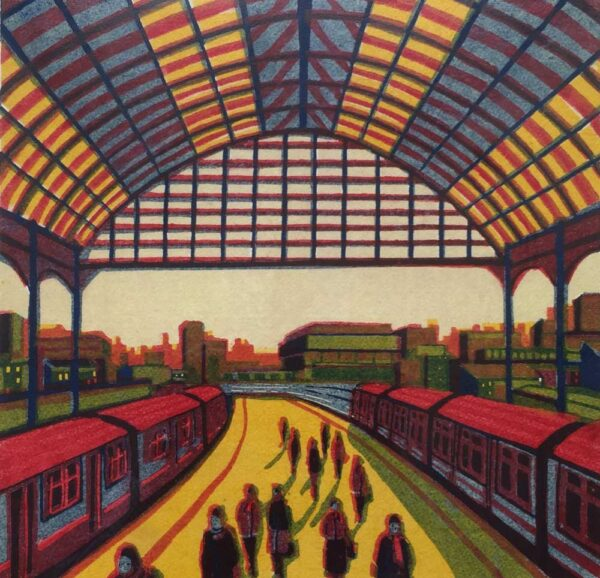 Gail Brodholt Every Moment So Fleeting Linocut Artist London