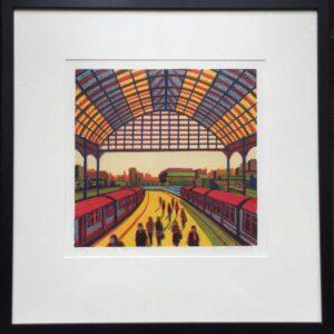 Gail Brodholt Every Moment So Fleeting Linocut Artist London Frame