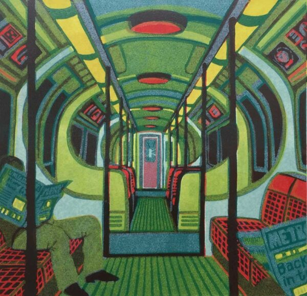Gail Brodholt Metroland II Linocut Artist