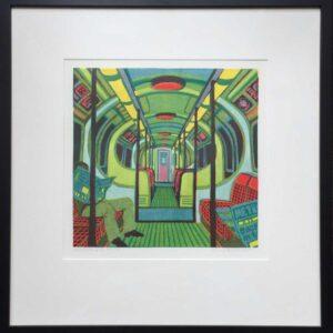 Gail Brodholt Metroland II Linocut Artist Frame
