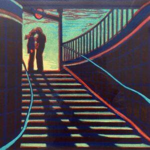 Gail Brodholt Promise Me No Promises Linocut Artist London