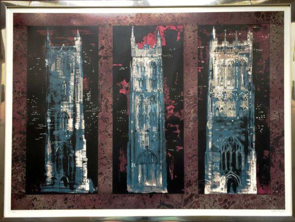 John Piper Artist Silkscreen Signed Print Frame