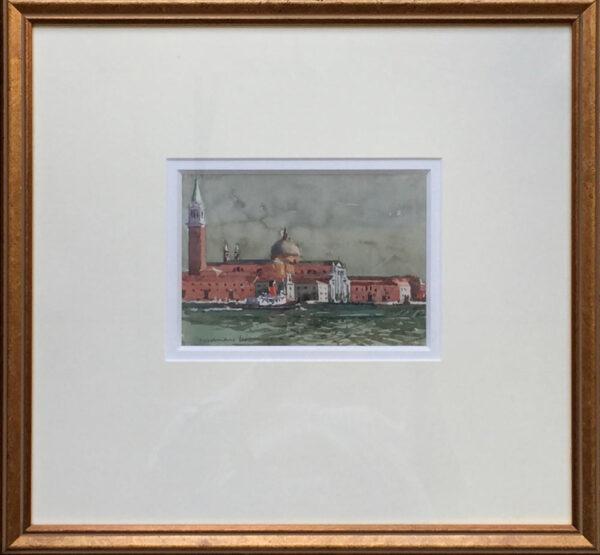 Norman Wilkinson Venice watercolour framed