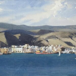 Norman Wilkinson Las Palmas in the Canary Islands watercolour